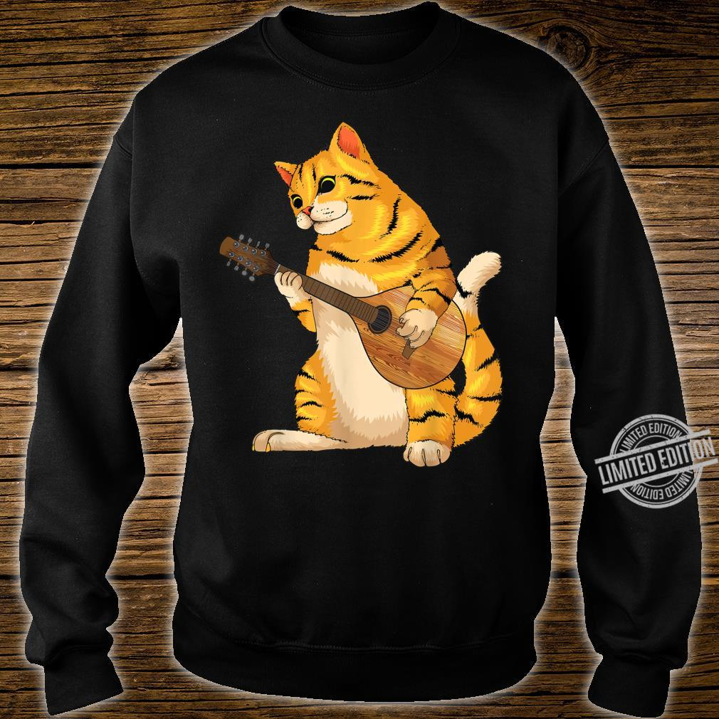 Funny Cat Playing Mandolin Cool Love Animal Musician Shirt sweater
