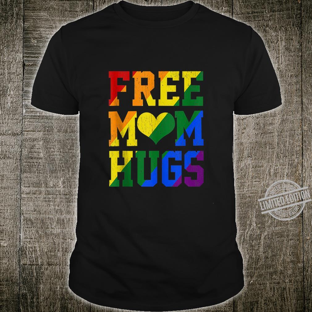 Vintage Free Mom Hugs Rainbow Heart LGBT Pride Month 2020 Shirt